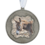 Adorable Donkey Pewter Ornament