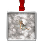 Angel in the Clouds Metal Ornament