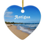 Antigua Beach Ceramic Ornament