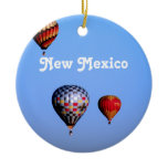 Balloon Festival in New Mexico Ceramic Ornament