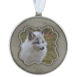 Beautiful White Swift Fox Pewter Ornament