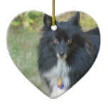 Black Pomeranian Dog Ornament