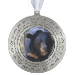 Black Spectacled Bear Pewter Ornament
