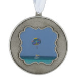 Colorful Parasailing Pewter Ornament