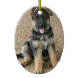 German Shepherd Puppy Ornament