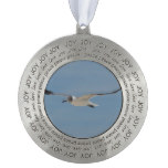Gliding Laughing Gull Ornament