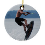 Jumping Wakeboarder Ornaments