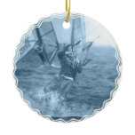 Kiteboarders with Windsurfers Ornament