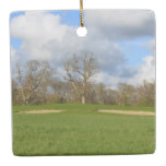 Let's Play Golf Ceramic Ornament