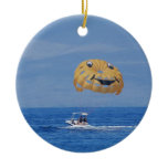 Love Parasailing Ceramic Ornament