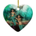 Mermaid Twins  Ornament