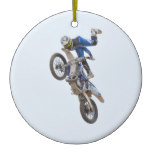 Motocross Extreme Tricks Ceramic Ornament