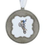 Motocross Extreme Tricks Pewter Ornament