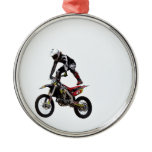 Motocross Tricks Metal Ornament