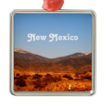 New Mexico Landscape Metal Ornament
