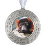 Resting Red Ruffed Lemur Pewter Ornament