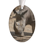 Rutting Rhino Ornament
