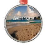 Saint Kitts Beach Metal Ornament