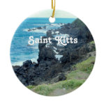 Saint Kitts Coast Ceramic Ornament