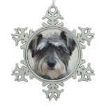 Schnauzer Dog Snowflake Pewter Christmas Ornament