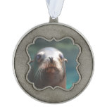Sea Lion with Whiskers Ornament