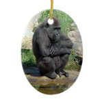 Sitting Gorilla Ornament