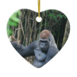 Sitting Silverback Gorilla  Ornament