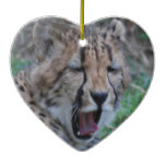Sleepy Cheetah Cub Ceramic Ornament