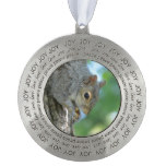Squirrel Hanging in A Tree Pewter Ornament