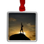 Sunrise Yoga Metal Ornament