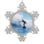 surfing-71.jpg snowflake pewter christmas ornament