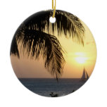 Tropical Sunset Sail Ornament