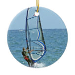 Tropical Windsurfing Ornament