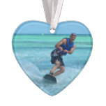 Wakeboarding in the Tropics Ornament